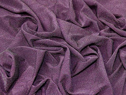 Minerva Crafts Lurex-Jersey-Stoff, Pflaume, Meterware
