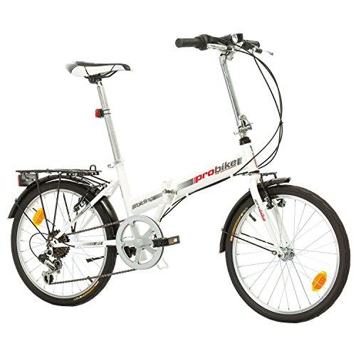 Multibrand PROBIKE Folding 20 Zoll Klapprad, Faltrad, Shimano 6 Gang, Herren-Fahrrad & Jungen-Fahrrad, geeignet ab 155 cm - 185 cm