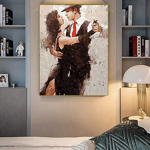 SADHAF Tango abstract moderne liefhebbers kunst op canvas DIY 60x90cm (senza cornice) A5