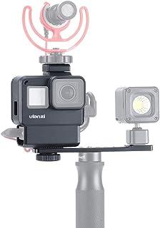 ULANZI V2 Pro Vlogging Housing Case for GoPro 7/6/5, Protective Frame Cage + Microphone Cold Shoe Extension+Lens Filter Co...