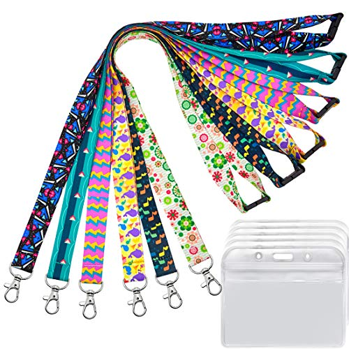 6 Pack Lanyard with id Badge Holder Cruise lanyards for Keys Women Kids Cruise Ship Card id Breakaway Lanyard for id Badges Holder YOUOWO Hall Pass Lanyards Quick Release Office Neck Safety Lanyards