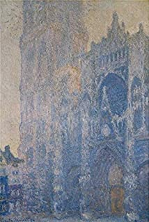 Oil Painting 'Rouen Cathedral, Morning Effect, 1893-1894 By Claude Monet' Printing On High Quality Polyster Canvas , 16x24 Inch / 41x61 Cm ,the Best Home Theater Decor And Home Decor And Gifts Is This High Quality Art Decorative Canvas Prints