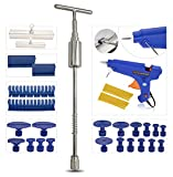 KEYHAO Auto Body Car Dent Pulle Auto Body Repair Tool Kit Dent Remover with T bar Dent Puller and Upgraded Dent Puller Tabs for Car Dent Repair and Metal Surface Dent Removal