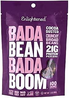Enlightened Bada Bean Bada Boom Crunchy Borad Beans Snacks, Cocoa Dusted, 3 Ounce (Single Pack)