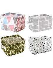 Foldable Storage Bag Closet Organizer Kids Toy Box Container Fabric Desk Storage Basket Cosmetic Storage Pouch