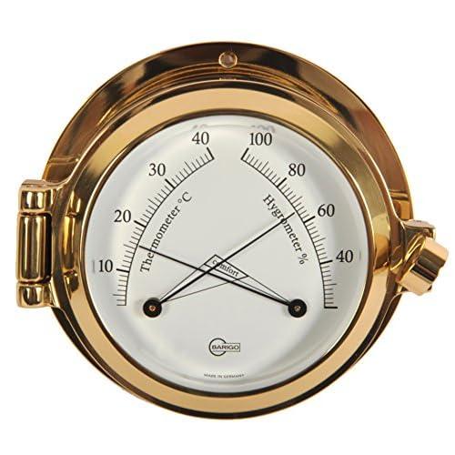 Barigo Termometro/Igrometro Poseidon ottone