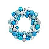 OULII Corona per Natale con Palline Ghirlanda di 55 Palle Sfere Colorate per Decorazione P...
