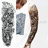 Handaxian 3pcs-Impermeable Etiqueta engomada del Tatuaje Temporal Angel Wing Tiger Flower Tattoo Tattoo Set Hombres y Mujeres 3pcs-10