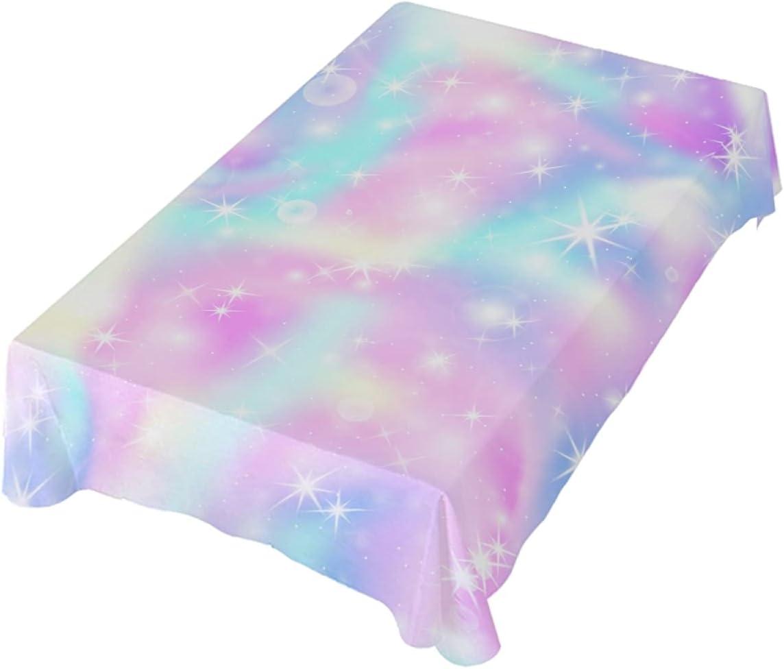 Max 68% OFF Romanti Max 47% OFF Rectangle Tablecloth Shiny Rainbow Table Dye Tie C Fluid