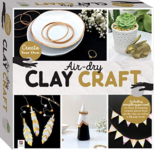 Air-Dry Clay Craft Box Set-This Complete Starter Kit includes all you need to create Stunning Ceramic Pieces