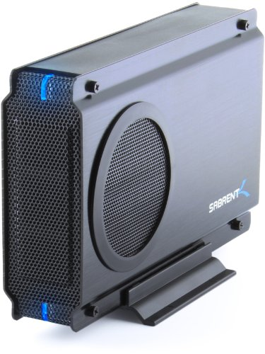 Sabrent USB 2.0/ESATA TO 3.5 Inch IDE or SATA/SATA II Aluminum Hard Drive Enclosure Case with Cooling Fan (EC-UEIS7)