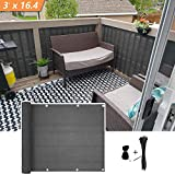 Xatan Paravento per balconi Schermo del Balcone Recinzione Copertura per Balcone Protezione della Privacy Schermo HDPE UV Copertura per balconi Resistente alle intemperie (90x500cm)