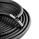 16ft/5M Car Door Edge Guard, Random U Shape Rubber Car Door Seal Trim Car Door Guards Protectors Strips for Car Metal Edges Boats, Grip Range 1.0mm to 2.5mm, Black