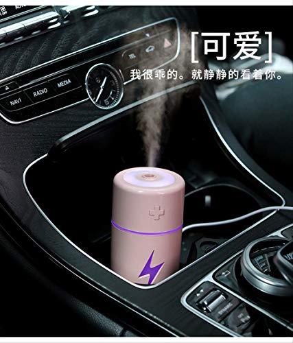 Ruiding - Humidificador USB para escritorio de coche portátil, mini silencioso, purificación de atomizador, color rosa