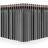 24 Brochas de Corrector Cosmético Debajo de Ojos Brocha de Base de Contorno Cejas Pincel de Maquillaje de Fibra Sintética Cepillo Pequeño de Delineador Ojos Mini Brocha Plana Ceja (Negro)