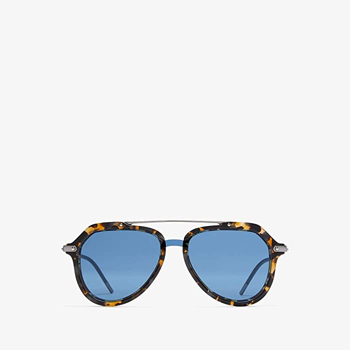 Dolce and Gabbana  0DG4330 (Blue Havana/Blue) Fashion Sunglasses