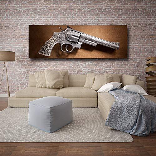 oioiu Película Retro Artista de la Pared decoración del hogar revólver Arma Pistola Lienzo HD Impresiones Pistola Pintura Cool Boy Teen Dormitorio Poster Mural