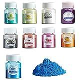 Heatigo Epoxidharz Farbe, 9 PCS Mica Pulver Seifenfarbe Set Metallic Farbe Resin Farbe Pigmente...