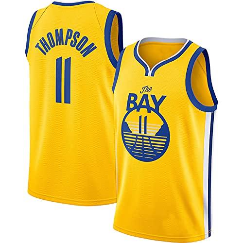 LGLE – Camiseta de baloncesto para hombre – Klay Thompson – Baloncesto Warriors # 11 – Camiseta de baloncesto Swingman de malla bordada, d, medium