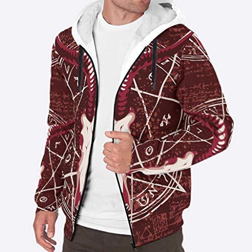 Toomjie Heren Lange Mouw Volledige Zip Up Schapen Gedrukt Fleece Sherpa Hooded Jas Trui Herfst Winter Warm Hoodie Jassen Pullover met Zakken