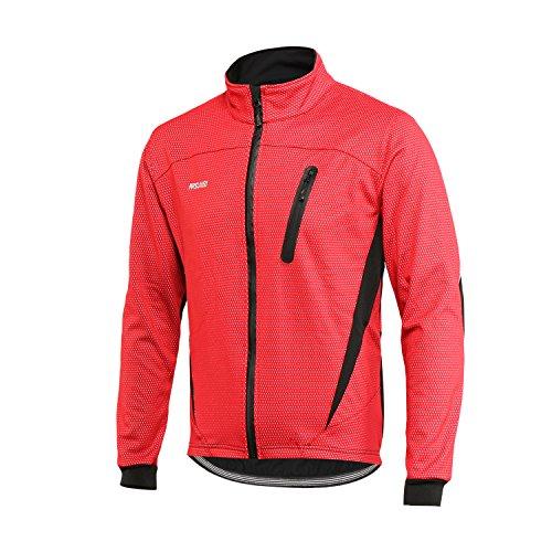 ARSUXEO Chaqueta de Ciclismo para Hombre Impermeable Reflectante Abrigo térmico de Invierno