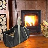 Correas Bolsa de leña para exteriores duradera Bolsa de leña portátil, Práctico picnic para acampar en el jardín Embalaje de leña