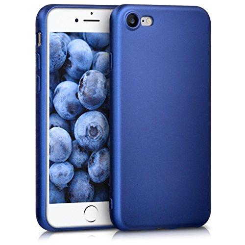 kwmobile Apple iPhone 7/8 Hülle - Handyhülle für Apple iPhone 7/8 - Handy Case in Metallic Blau