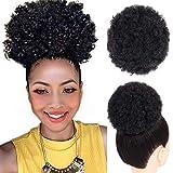 8 pulgadas corto Afro Puff sintético del pelo Chignon pelo para las mujeres de cola de caballo rizado peinado Clip de extensiones de cabello