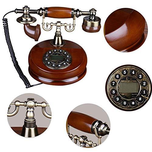 Nobrand CY-505 Classic Wood Retro Antiquiteit vaste net, keuze uit verschillende schijven, handsfree keus herhalingsfunctie, klassiek metalen klok, voor hoofddecoratie, plezier