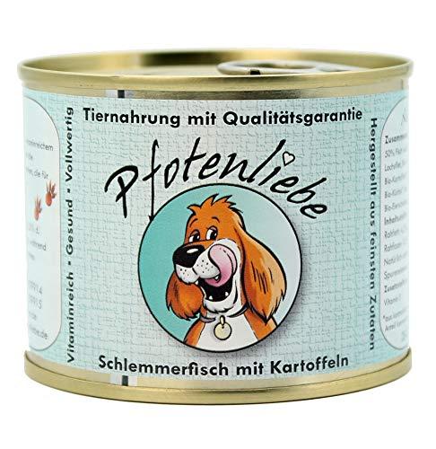 Pfotenliebe Bio Nassfutter Hund | Schlemmerfisch mit Kartoffeln | mit Qualitätsgarantie | Natürlich ohne Chemie | Machen Sie Ihren Hund glücklich! | 400g + 200g (200g)