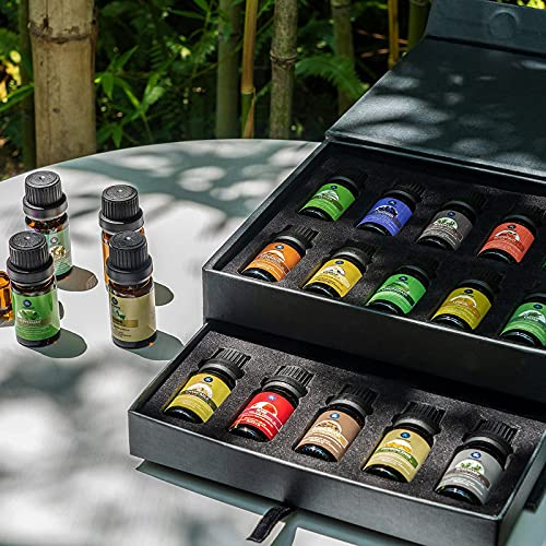 Lagunamoon Premium Essential Oils Set, 20 Pcs Pure Natural Aromatherapy Oils Lavender Frankincense Peppermint Rose Rosemary Sandalwood