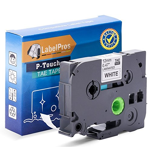 Replace Tze 231 Tape 12mm 0.47 Inch Laminated Black on White TZe-231 TZ-231 Compatible with P Touch Label Maker PTD210 PTH100 PTH110 PTD400 PTP700, 26.2 Feet, 2 Pack