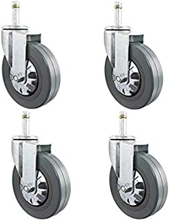 Cylficl Casters 4 PCS Casters Furniture Polyurethane Pu 4 Set Wheels Universal Rotary Brake 1.5 Inches 2 Inches 50 Mm Silent Replacement Long-Term Use Size : 2 in