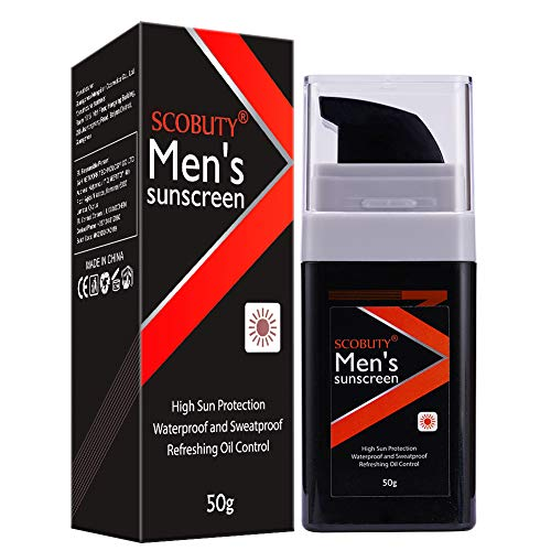 Crema Solar, Protector Solar, Sunscreen Hombres, Sunblock Cream, Refrescante y no graso, SPF +50 Piel Mixta-grasa, Protector solar de cuerpo completo 50ml