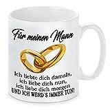 Lieblingsmensch Tasse Modell ' Ich liebte dich damals... - Mann', Keramik, Weiß, 11 x 11 x 11 cm, 1...