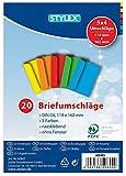 20 (1x 20) farbige Briefumschläge Din C6 bunte Kuvert (DIN C6 | 20 Stück, sortiert)