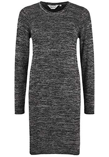OXMO Danielle Damen Strickkleid Feinstrickkleid Kleid, Größe:S, Farbe:Black (70155)