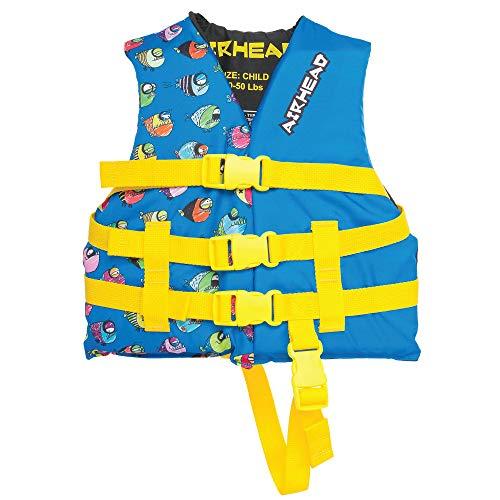Airhead Childrens Crayon Fish Life Vest, Blue, 30-50 lbs (10086-02-A-BL)