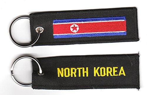 Schlüsselanhänger Nordkorea Anhänger Fahne Flagge FLAGGENMAE®