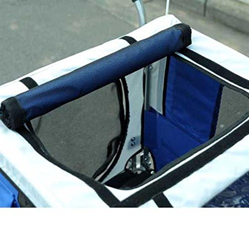 PawHut Durable Pet Dog Bicycle Bike Trailer Stroller Jogger with Suspension Blue/Grey
