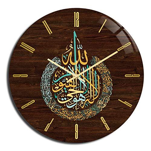 YIBOKANG Eid Al-Fitr Muslim Dimensional Pattern Acrylic Wall Clock Bedroom Living Room Clock Quartz Home Decoration Dining Table