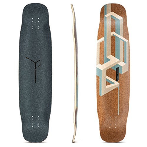 Loaded Boards Basalt Tesseract Bamboo Longboard Skateboard Deck (Nude)