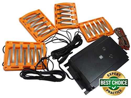 ISOTRONIC Dissuasore Scaccia Repellente a ultrasuoni e luminoso contro martore topi ghatti...