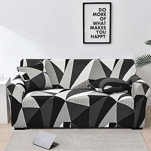 WXQY Funda de sofá de celosía Cuadrada Funda Protectora de Muebles de Sala Funda Protectora de sofá elástica a Prueba de Polvo A1 1 plazas