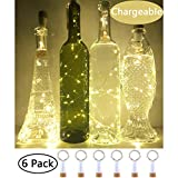 NeoJoy Rechargeable Wine Bottle Lights, LED Cork Lights USB Fairy String Lights Parties Decoration, Warm White