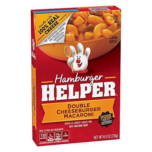 Hamburger Helper Double Cheeseburger Macaroni, 6-Ounce Boxes (Pack of 12)