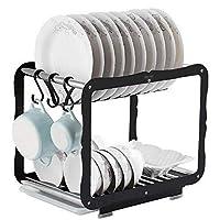 水切りバスケット ドレインラック - カトラリー食器ホルダーを備えたキッチンドレンラックへの排水のシンクの水切り食器水切り 水切りラック
