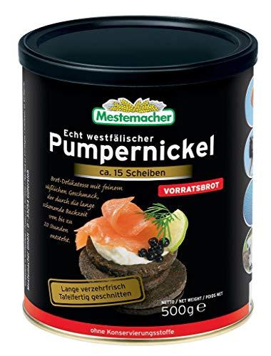 Mestemacher - Pumpernickel Brotdose Roggen Vollkornbrot - ca.13 Sch./500g