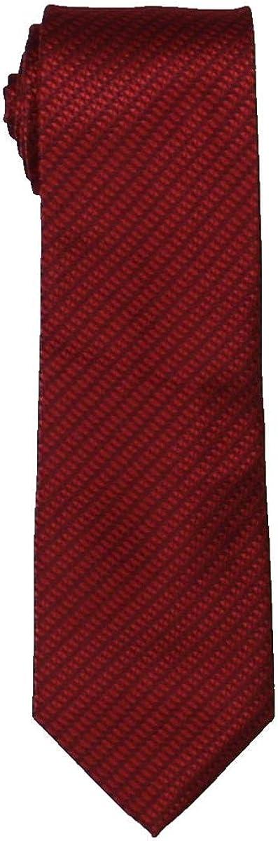 Geoffrey Beene Mens Micro Sun Neat Self-tied Necktie, Red, One Size