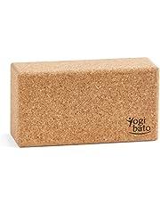 Yogibato yogablok kurk met e-book in het Engels met oefeningen| Yoga blok 1 pakje & 2 pakje | kurkblok voor yoga en fitness - Pilates & Hatha blok - yogabloksteen - yogablok gemaakt van 100% natuurlijk kurk